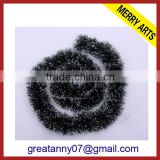 alibaba express wholesale balck christmas tinsel curtains party decoration craft tinsel pom poms