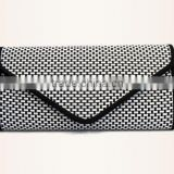 Womens Envelope Leathe clutch bag new fashion envelope clutch bag/ zip top clutch bag