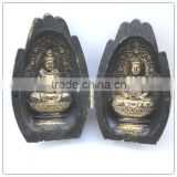 Buddha In The Hand, Antique color mini buddha statue ,small buddha statue