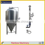 600L/5 barrel beer brewing equipment, beer brewery equipment, beer fermentation equipment with dimple plate cooling jacket