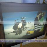 Supply adhesive back projection screen foil from $35
