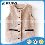 chinese import sites women clothes wholesale faux fur winter vest
