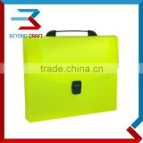 A4 size poly plastic PP document case handle document box