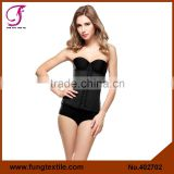 4027 2015 New Style Sexy Dark Blue Underbust Latex Waist Training Corset