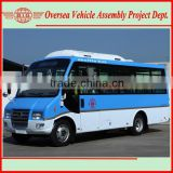 simple bus production line to assemble 19+1 seats up to 38 passengers mini bus from SKD to CKD