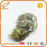 Custom new design camo worn-out baseball cap with built-in led light