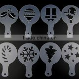 food grade plastic coffee stencil for chrismas                                                                         Quality Choice
