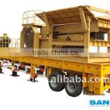 A new designed rock portable crushing, Mobile stone crusher plant for sale with high quality