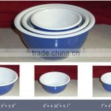 bowl set ,3pcs stoneware mixing bowl set ,ceramic bowl,