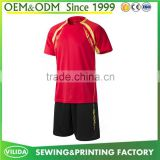 Cheap price sublimation soccer jerseys 100% polyester dry fit football uniform wholesale