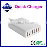 CE FCC Rohs approved QC 2.0 USB Fast Charger Quick Charger 6 USB Ports for Iphone and Ipad