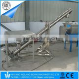 Stainless steel flexible screw conveyor for plastic powder, food, pharm, metallurgy powder