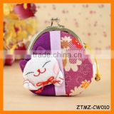 2014 Lovly Japanese Styole Gift Lucky Cat Clip Coin Purse