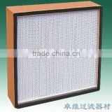 JOWELL&Wooden frame deep pleated Hepa box air filter