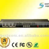 4V4A broadcast standard video / analog audio fiber optic transceiver (transmitter + receiver)