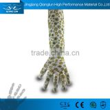 Comfortable and breathable PU coated long sleeve garden gloves