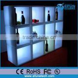 Inquiry about DIY led color changing illuminated wine display cabinet bar cube wall shelf