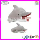 A249 Baby Love Gifts Dolphin Plush Hand Puppet Crafts Shadow Puppet