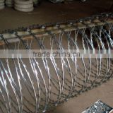980mm roll diameter hot dipped galvanized barbed tape razor wire