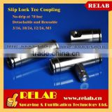 High Pressure Brass Mist Nozzle Connector Slip Lock Coupling