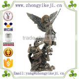 factory custom made handmade carved hot new product resin decorative statue of angels wings