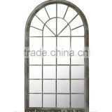 Classic Style Wrought Iron Framed Wall Mounted Decorative Mirror For Home Park Patio