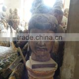 hand carved antique imitation buddha head decorative sculpture