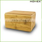 Eco - friendly bamboo pet cremation urns Homex BSCI/Factory