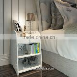 new Modern Simple High Gloss Jane European Style Storage Cabinet with a Drawer , White Carved Night Stand, bedside table