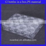 12/lots Plastic Clear Cosmetic Beads Containers Storage Pot Jars with lid