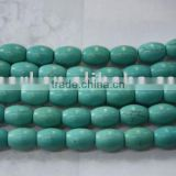 wholesale 12*7.7mm loose turquoise strands