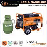 low fuel comsupution LPG/ generator set power air-cooled 4stroke natural gas,gasoline fuel