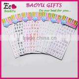 Top Selling Acrylic Crystal Sticker Acrylic Rhinestone Gem Sticker DIY Crystal Alphabet Letter Sticker