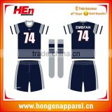 Hongen apparel Team set custom rugby league jersey custom rugby shorts and socks