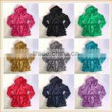 baby girl knit cotton ruffle cardigan girl fashion jackets with hood children boutique blouse clothing sets