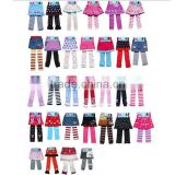 fancy knitted cotton baby leggings tights with skirt