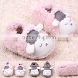 lovely cartoon animal coral fleece baby girl walking shoes