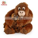 Hot selling animated plush orangutan gorilla soft toy
