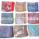 Indian 100% Pure Silk Scarf Stole Wholesale Lot of Silk Scarve Women Gift summer High quality silk scarf/stoles/wrap elegant