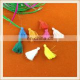 2015 new cheap colorful small tassel piece/tassel fringe/silk tassel for necklace/earring wholesale