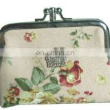 Lovely ladies' cotton coin purse G3636