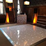LED dance floor with white lights for wedding decoration/event performance
