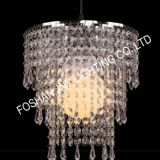 Foshan JNY Lighting Beautiful Modern Chrome Chandelier Pendant Shade with Stunning Clear Acrylic Jewel Droplets