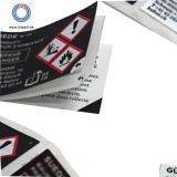 Adhesive customized label sticker multi layer  label sticker packing