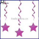Metallic Dangling Silver Star Swirls /Silver Star Hanging Decoration /Wall Decoration SD057