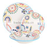 porcelain ware with colored rim and decalgood quality and cheap dinnerwareporcelain sanitary ware
