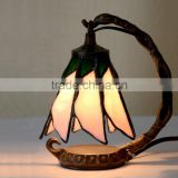 tiffany table lamp stained glass love rose night light LED decoration light