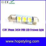 Error free Wholesales Price C5W 39mm 5050 SMD LED Festoon light,car led interior lighting ,Car Reading lamp