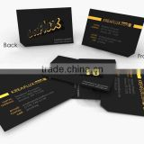 Luxury letterpress business cards with gold edge                                                                         Quality Choice