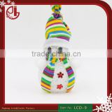 Lighted Resin Thin Artificial Natal Christmas Decoration New Snowman Ornament Decor Led Light Xmas Party Led Christmas Light